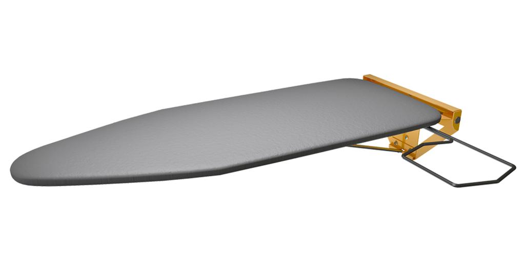 Yellow Powder Coated Compact Wall Mounted Folding Ironing Board