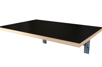 Wall Mounted Foldable Table Black Decorply