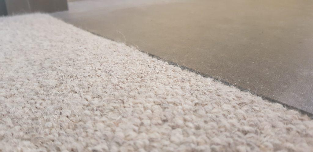 Carpet to tile