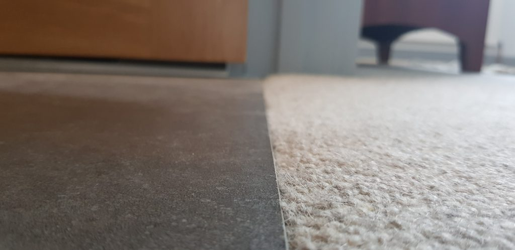 Tile to carpet with no threshold